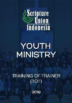 Youth Ministry Training Of Trainer